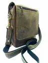 Flap Closure Crunch Leather Vertical Satchel Bag