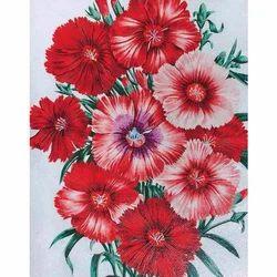 Gloss Hand Cut Flowers Print Tile