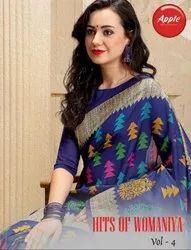 Apple Hits of Womaniya Vol-4 Bhagalpuri Silk Saree