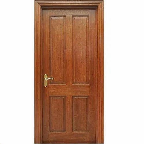 Wood Finished Wooden Panel Door
