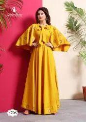 Ladies Flavour Miss World Vol-4 Long Gown Type Kurtis Catalog