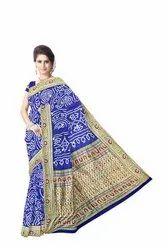 Party Wear 'All' Over Blue Color Banarasi Georgette Saree