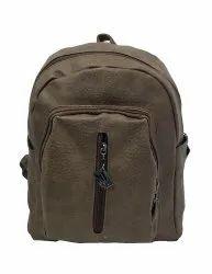 P.U Leather Plain Backpack