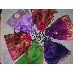 Raw Silk Drawstring Potli Bag