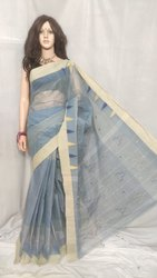 Bengal Cotton Tant Handloom Saree without Blouse Piece