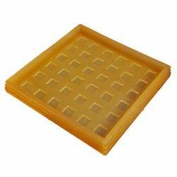Square Cadbury PVC Tile Mould, Plain