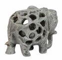 Soapstone Jaali Elephant Statue
