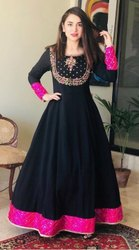 Ethnic Wear Embroidered Tripta - Rayon 14 Kg Embroidery Women Dress
