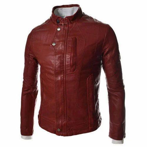 7126f47cc482 Full Sleeve Boy Stylish Leather Jacket