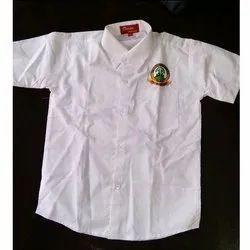 Button White School Formal Shirt, Packaging Type: Box