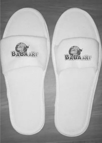 Terry Daily Wear White Disposable Slipper For Hote