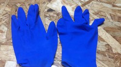 Polymer Coated Disposable Blue Gloves