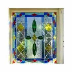 Glossy Designer Decorative Glass, Size: 6 X 8 Feet