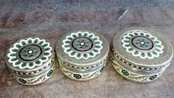 Decorative Meenakari Steel Tiffin Box For Gifts