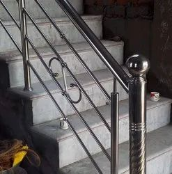 Silver Bar Stainless Steel Railing, For Home