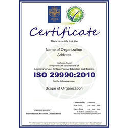 ISO 29990:2010 Certification Consultancy Service