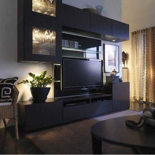 Jd Furniture Wall Mounted 1 Bhk Flat With Tv Unit Interior For Residential Rs 850 Square Feet Id 20376874097