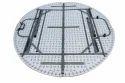 Folding Round Table- 5'''' Dia.-Split Top