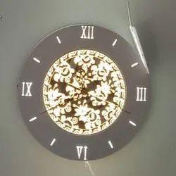 LED Round Analog Wall Clock, 6 W