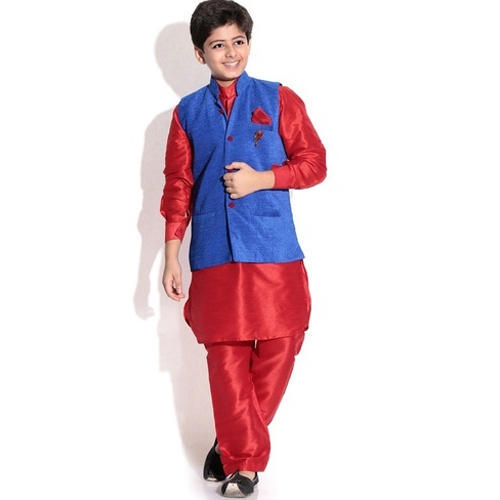 d797cda21531 Blue And Red Stylish Kids Kurta Pajama