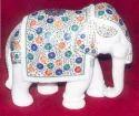Marble Inlay Design Elephant Statue