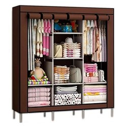 Traders5253 Folding Non Wardrobe, Storage Rack Collapsible Clothes Fabric Cloth Storage Almirah