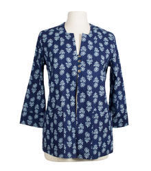 Indigo Print Reversible Jacket