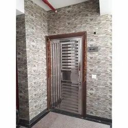 Silver SS Entrance Gate, Size: 82x42 Inch