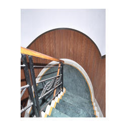 Brown Straight Run WPC Staircase