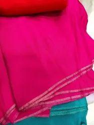 Party Wear Plain Upadda Silk Saree