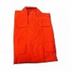 Dyed Woven Fabric Orange Boiler Suit Fabric
