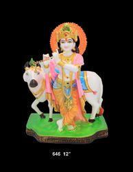 Cow  Krishna God Idols