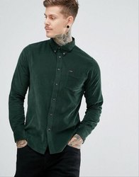 Green Party Wear Mens Designer Shirt