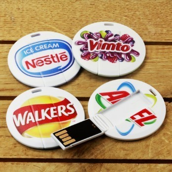 Round Card  Shape Flash Drive