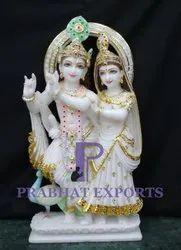 Jugal Radha Krishna Marble Moorti