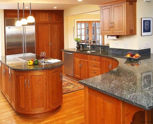 Pine Tech Modern Wood Modular Kitchen Cabinet