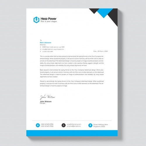 Corporate Letterhead Template At Rs 2 Piece: Letterheads At Rs 2 /page