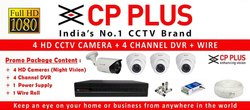 1.3 MP CP Plus 4 Nos CCTV System Setup