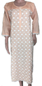 Womens Chikankari Designer Cotton Kurti XL
