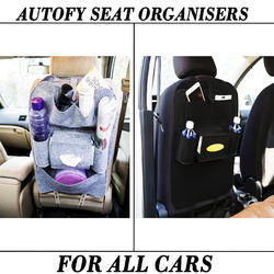 Black And Grey Autofy Car Seat Organizer Bag