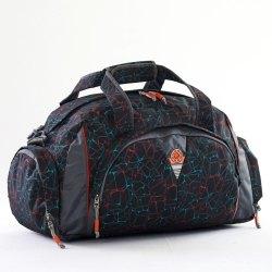 Polyester Black Printed Travel Bag