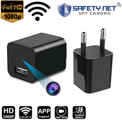 Safetynet Wifi Spy Hidden Charger Camera USB Wall Charger Adapter