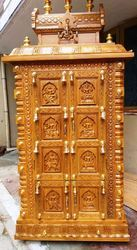 Teakwood Pillayar Patti Vinayakar Puja Temple 6 Ft x 3 Ft
