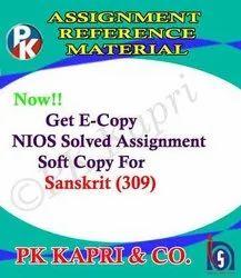Sanskrit (309)- Nios Solved Assignment for 12th Class-October Exam 2021