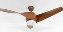 Sove Brown Vintage Wooden Ceiling Fan With Remote Control ( Bulbs Included)