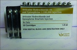 Articaine Hydrochloride And Epinephrine Bitartrate Injection