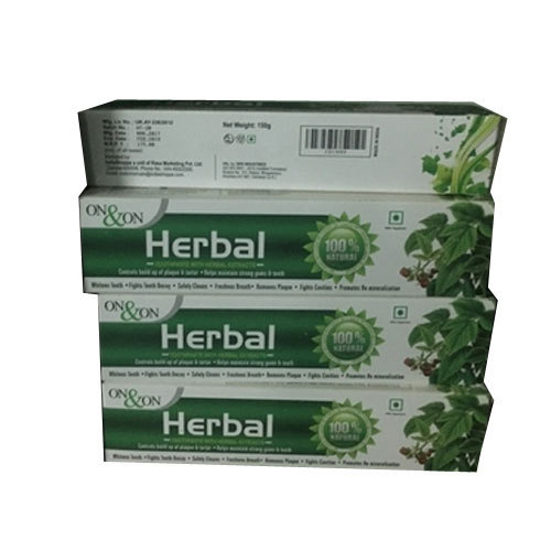 On & On Herbal Toothpaste, Pack Size: 150 gm