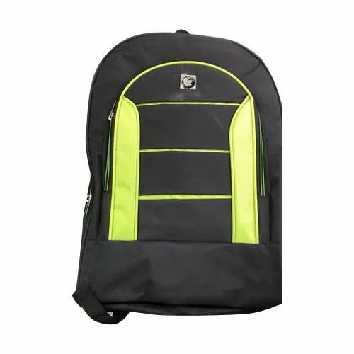 Black And Green Plain Designer School Backpack Bag