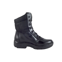 Black Waterproof Leather Boot, Size: 6-12 UK