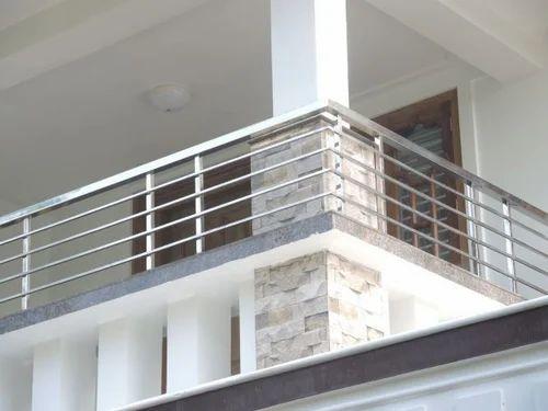 Balcony Stainless Steel Handrail, SS Handrail, नरम इस्पात ...